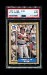 1987 CARLTON FISK OPC #164 O-PEE-CHEE WHITE SOX PSA 9
