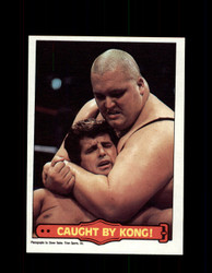1985  KING KONG BUNDY #50 WWF O-PEE-CHEE CAUGHT BY KONG *R3102