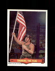 1985 CORPORAL KIRCHNER #13 WWF O-PEE-CHEE SHOWING THE FLAG *G5309
