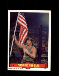 1985 CORPORAL KIRCHNER #13 WWF O-PEE-CHEE SHOWING THE FLAG *G5316
