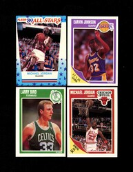 1989 FLEER BASKETBALL COMPLETE SET W/ STICKERS *029