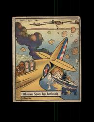 1941 WAR GUM #18 OBSERVER SPOTS JAP BATTLESHIP *R4291