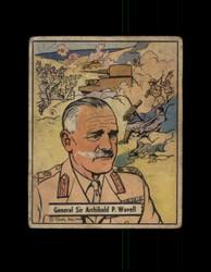 1941 WAR GUM #21 GENERAL SIR ARCHIBALD P. WAVELL *R4435