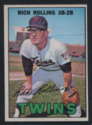 1967 RICH ROLLINS OPC #98 O PEE CHEE TWINS NM #1757