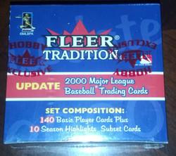2000 FLEER TRADITION BASEBALL UPDATE FACTORY SET 150 CARDS