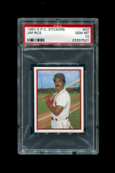1983 JIM RICE OPC #37 STICKERS O PEE CHEE REDSOX PSA 10