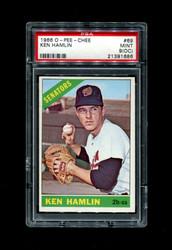1966 KEN HAMLIN  OPC #69 O PEE CHEE SENATORS PSA 9 oc