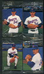 1991 NOLAN RYAN MOTHERS COOKIES SET OF 4 FACTORY SEALED