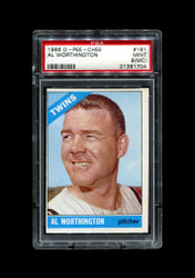 1966 AL WORTHINGTON  OPC #181 O PEE CHEE TWINS PSA 9 mc