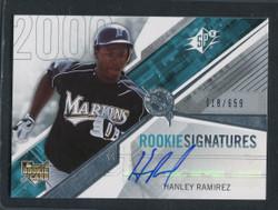2006 HANLEY RAMIREZ SPX ROOKIE SIGNATURES #117 18/659 #3210