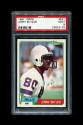 1981 JERRY BUTLER TOPPS #521 BILLS PSA 9