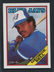 1988 GEORGE BELL OPC #173 O PEE CHEE BLUE JAYS BLACK ONLY BACK #2081