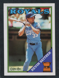 1988 KEVIN SEITZER OPC #275 O PEE CHEE ROYALS BLACK ONLY BACK #3154