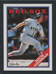 1988 RICH GEDMAN OPC #245 O PEE CHEE REDSOX BLACK ONLY BACK #1078