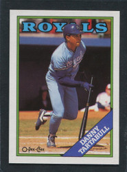 1988 DANNY TARTABULL OPC #211 O PEE CHEE ROYALS BLACK ONLY BACK #3008