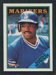1988 HAROLD REYNOLDS OPC #7 O PEE CHEE MARINERS BLACK ONLY BACK #3055