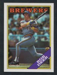 1988 ROB DEER OPC #33 O PEE CHEE BREWERS BLACK ONLY BACK #3012