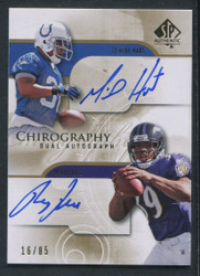 2008 RAY RICE SP AUTHENTIC #/85 CHIROGRAPHY DUAL AUTO #2318