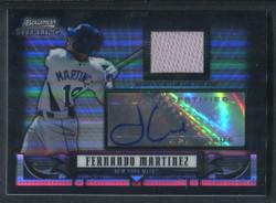 2008 FERNANDO MARTINEZ BOWMAN STERLING #/25 BLACK REFRACTOR AUTO #3487