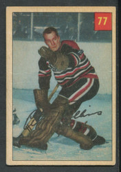 1954 AL ROLLINS PARKHURST #77 BLACKHAWKS VG #3392