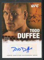 2010 TODD DUFFEE TOPPS UFC AUTO #3521