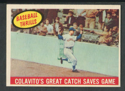 1959 COLOVITO'S GREAT CATCH TOPPS #462 SAVES GAME EXMT #2503