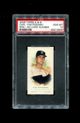 2006 CARL YASTRZEMSKI  TOPPS ALLEN GINTER MINI NNO NO NUMBER #/50 PSA 10