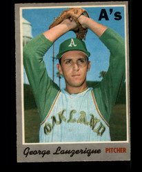 1970 GEORGE LAUZERIQUE OPC #41 O PEE CHEE ATHLETICS NM #2113