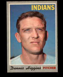 1970 DENNIS HIGGINS OPC #257 O PEE CHEE INDIANS EXMT/NM #3631