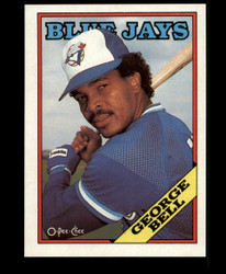 1988 GEORGE BELL OPC BLANK BACK O PEE CHEE BLUEJAYS #3658