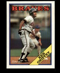 1988 KEN GRIFFEY OPC BLANK BACK O PEE CHEE BRAVES #3659