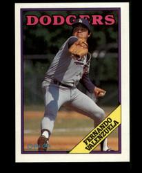 1988 FERNANDO VALENZUELA OPC BLANK BACK O PEE CHEE DODGERS #3661