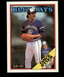 1988 DAVE STIEB OPC BLANK BACK O PEE CHEE BLUEJAYS #3663