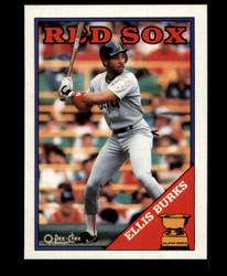 1988 ELLIS BURKS OPC BLANK BACK O PEE CHEE REDSOX #3664