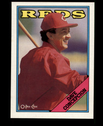 1988 DAVE CONCEPCION OPC BLANK BACK O PEE CHEE REDS #3665