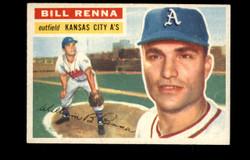 1956 BILL RENNA TOPPS #82 ATHLETICS VG #3704