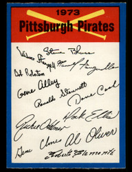 1973 PITTSBURGH PIRATES OPC TEAM CHECKLIST O PEE CHEE  #3797