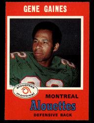 1971 GENE GAINES OPC CFL #111 O PEE CHEE ALOUETTES NM #3885