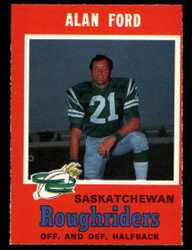 1971 ALAN FORD OPC CFL #97 O PEE CHEE ROUGHRIDERS NM #3890