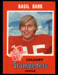 1971 BASIL BARK OPC CFL #119 O PEE CHEE STAMPEDERS NM #3894