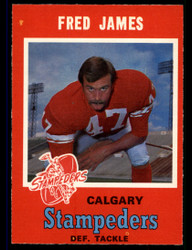 1971 FRED JAMES OPC CFL #127 O PEE CHEE STAMPEDERS NM #3896