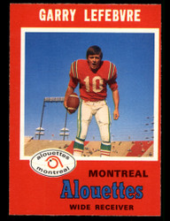 1971 GARY LEFEBVRE OPC CFL #114 O PEE CHEE ALOUTTES NM #3905
