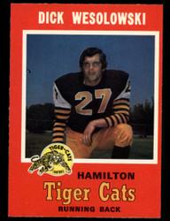 1971 DICK WESOLOWSKI OPC CFL #66 O PEE CHEE HAMILTON NM #3911