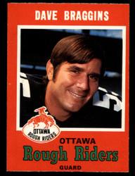 1971 DAVE BRAGGINS OPC CFL #79 O PEE CHEE OTTAWA NM #3914