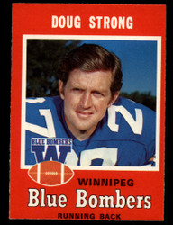 1971 DOUG STRONG OPC CFL #17 O PEE CHEE WINNEPIG NM #3931