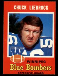 1971 CHUCK LIEBROCK OPC CFL #21 O PEE CHEE WINNIPEG NM #3932