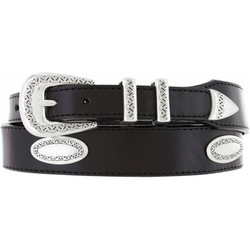 Ornamental Taper Belt - Black by Brighton (Sizes 32-42)