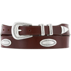 Ornamental Taper Belt - Brown by Brighton (Sizes 32-42)