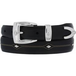 Denver Diamond Belt - Black by Brighton (Sizes 32-44)