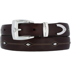 Denver Diamond Belt - Brown by Brighton (Sizes 32-44)